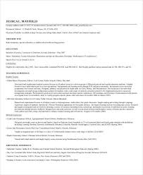 Sample Teacher Resume Template Teacher Resume Examples 23 Free Word Pdf Documents Download