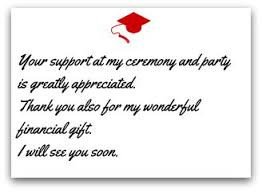 graduation thank you notes