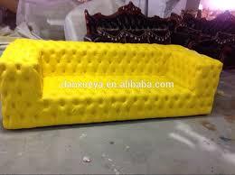 Yellow Leather Sofa Button Tufted Leather Sofa Button Tufted Leather Sofa Suppliers