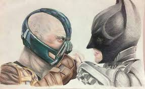 bane u0026 batman old drawing vs new drawing comics amino