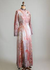vintage 1960s ombre paisley lame party maxi dress raleigh vintage