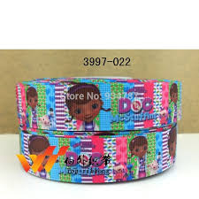 doc mcstuffins ribbon 2014 new arrived free shipping epacket 7 8 ribbon 50 yards doc