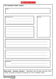 report writing template ks1 non chronological report template primary ks1 ks2 teaching