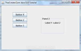 gui swing java panel jpanel swing exle