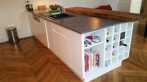 comptoir de cuisine sur mesure ilot central espace comptoir fonctionnel et convivial