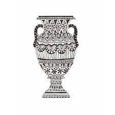 Greek Vase Design Vase Design Doodle Stencils Coloring Doodling And Tangling