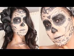easy sugar skull makeup hair