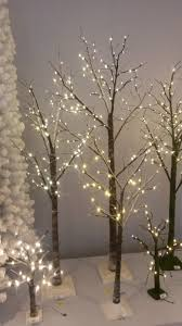 pre lit snowy twig tree 200 cm 6ft 7 paper twig tree