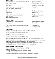 Professional Actor Resume Sample Resume For Baker Resume For Your Job Application