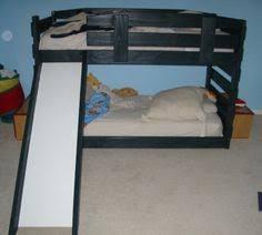 bunk u0026 loft factory twin mid height loft bed slide mission