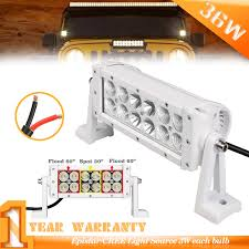 Brightest Led Light Bar by 8inch 36w White High Bright Led Light Bar 6000k For Jeep Utv Atv