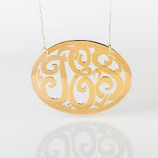 Gold Monogram Necklace Gold Monogram Necklace