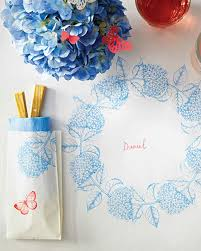 Kraft Paper Table Cloth Stamped Paper Tablecloth For Summer Martha Stewart