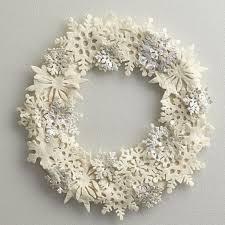 snowflake wool felt holiday wreath the company store