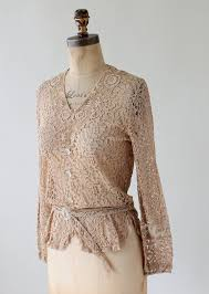 vintage blouse vintage 1930s lace blouse with glass buttons raleigh vintage