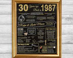 30th wedding anniversary party ideas 30th anniversary etsy