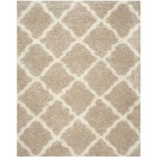 Moroccan Tile Rug Shop Safavieh Dallas Shag Beige Ivory Rectangular Indoor Machine