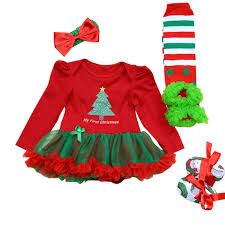 my christmas baby girl 4pcs per set baby girl my christmas tutu dress infant
