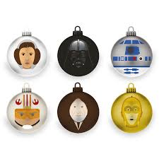 official star wars a new hope baubles christmas tree decorations