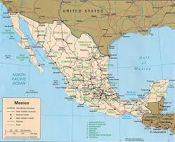 Southern Mexico Map by Download Map Of North Mexico Major Tourist Attractions Maps