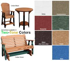 Amish Outdoor Patio Furniture Amish Outdoor Poly Lumber Outdoor Patio Furniture Colors At Shop Nc