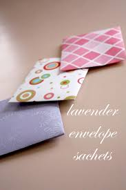 Make Your Own Envelope Lavender Envelope Sachets