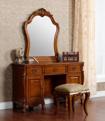 Bedroom Dressers With Mirrors Vintage Look Antique Oak Dresser With Mirror Built In And 3 Drawer