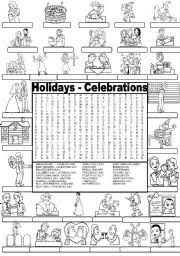 teaching worksheets celebrations