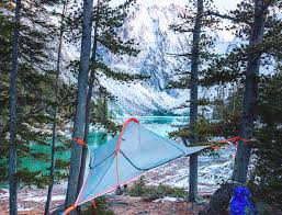 ultra light and portable flite tent lets you c in the trees