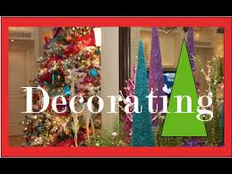 colorful tree decorations decorating
