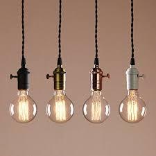 Light Bulb Pendant Vintage Pendant Light Interior And Home Ideas