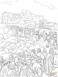 capricious joshua and jericho coloring pages walls of jericho