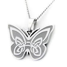 amazon com celtic butterfly design with prayer pendant