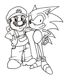 pages print sonic mario coloring pages print ideas