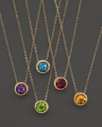 yellow gold gemstone necklace images Bezel necklace bloomingdale 39 s tif