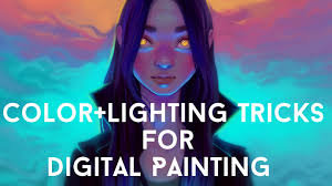 color lighting tricks for digital painting youtube
