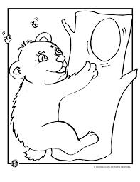 baby bear coloring animal jr