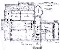 antebellum floor plans frederick scott house 1st floor architectural floor plans