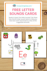 grab these free colorful letter sound cards for your