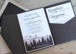 mountain wedding invitations mountain wedding invitations plumegiant
