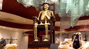 gourmet halloween chocolate chocolate skeleton showpiece halloween display at jean philippe at