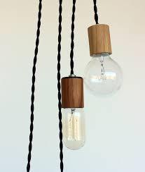 Wood Veneered Pendant Light With 12 Cord Plug And Switch 45 00