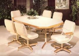 dinette table and chairs with casters chromcraft furniture at it s finest this comfortable swivel tilt