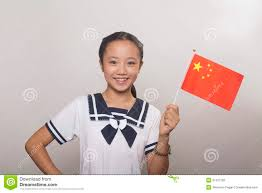 Image Chinese Flag In Uniform With Chinese Flag Studio Shot Stock Photo