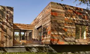 Recycled Wood by Vernacular Inspired Delaware Home Built With Recycled Barn Wood
