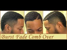 black men comb over hairstyle burst fade comb over hard part youtube