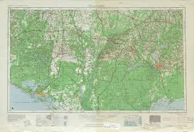 Topographical Map Of United States by Tallahassee Topographic Map Sheet United States 1954 Full Size