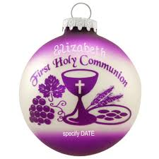 personalized holy communion ornament religious bronner s