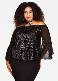 buy plus size sequin tops for stewart