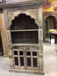 library bookcase arched frame with glass double doors